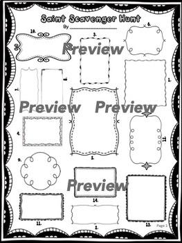 Catholic Saints Scavenger Hunt 2: Advanced Version