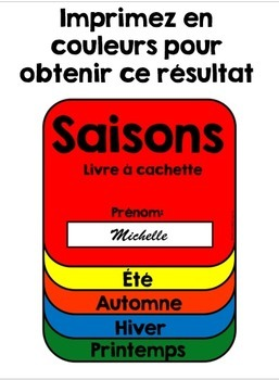 Saisons livre à cachettes - Seasons Flip Book in French