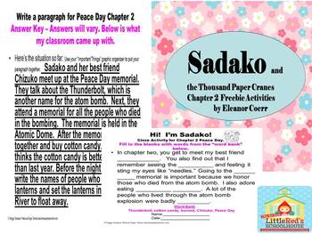 Sakako and the Thousand Paper Cranes Chapter 2 Activities SPED/ELD