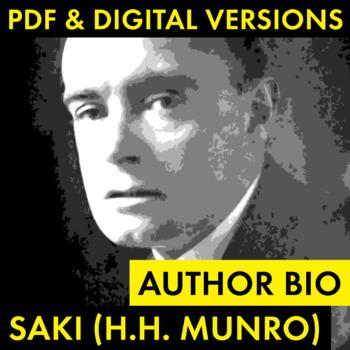 Saki (H.H. Munro) Author Study Worksheet, Easy Biography Activity, CCSS