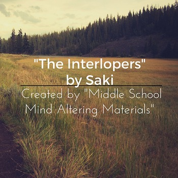"Saki's ""The Interlopers"" with Hatfield/McCoy Bonus"