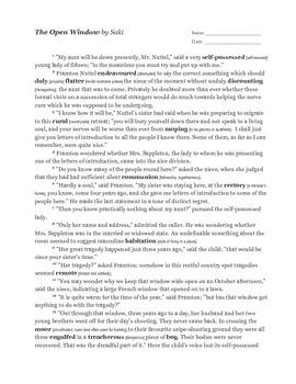 Saki's The Open Window as Script