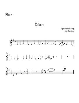 Sakura Beginning Band Music - Score and Parts