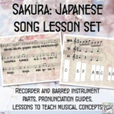 Sakura: Japanese song lesson set with recordings, orff arr