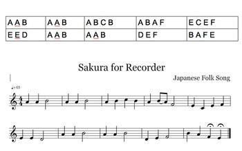 Sakura in A Minor Pentatonic for Recorder