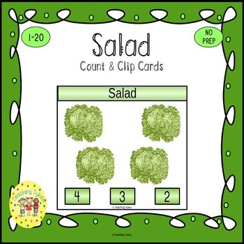 Salad Count and Clip Task Cards