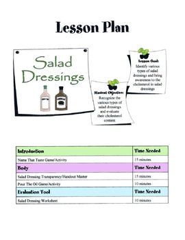 Salad Dressing Lesson