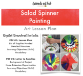 Salad Spinner Paintings (Process Art, Force & Motion, Physics, Color Mixing)