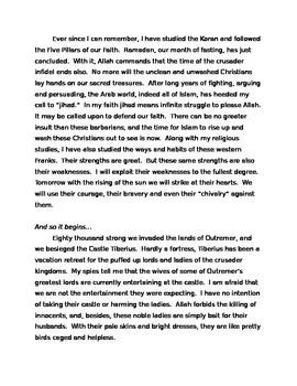 Saladin Battle of Hattin historical fiction reading