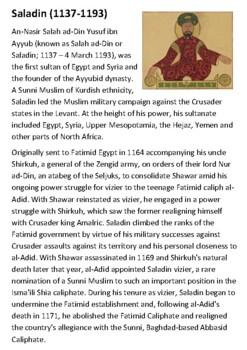 Saladin Handout