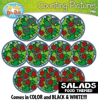 Salads Counting Pictures Clipart {Zip-A-Dee-Doo-Dah Designs}