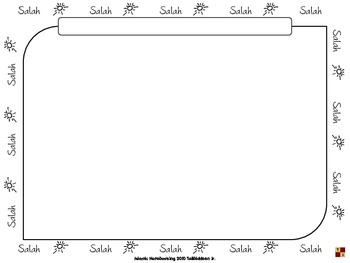 Salah (Prayer) Notebooking Pages