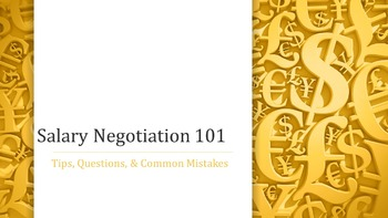 Salary Negotiation 101 Lesson