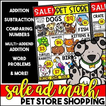 Sale Ad Math: Pet Store Shopping