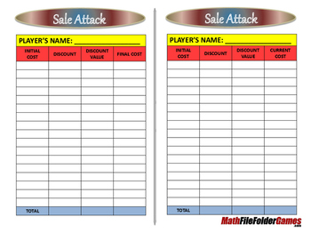 Sale Attack - Percent Game