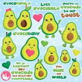 Sale Avocado clipart commercial use, vector graphics, digital  - CL1150