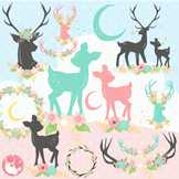 Sale Deer clipart commercial use, vector graphics, digital  - CL1169