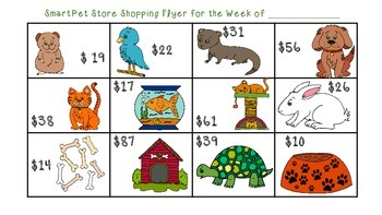 Sale Flyer Shopping: Addition and Subtraction within 100