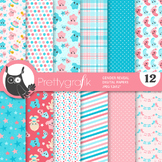 Sale Gender reveal papers, commercial use, scrapbook papers, patterns - PS920