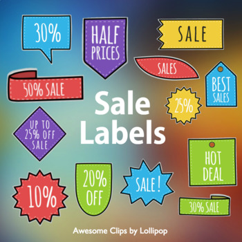 Sale Labels for Your Covers of TpT Products {Awesome Clips by Lollipop}