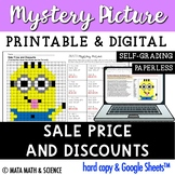 Sale Price and Discounts: Math Mystery Picture - Distance Learning
