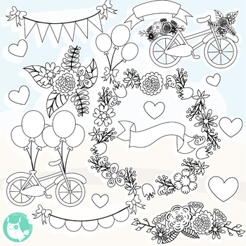 Sale Summer bicycle stamps commercial use, vector graphics, images  - DS1138
