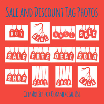 Sale Tag Photos - Shop Tags Photographic Clip Art for Commercial Use