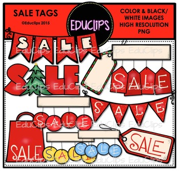 Sale Tags Clip Art Bundle {Educlips Clipart}