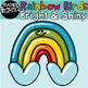 Rainbow Birds Clip Art, Bright & Shiny, Commercial Use OK