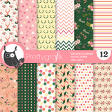 Sale Wedding flower papers, commercial use, scrapbook papers, patterns - PS946