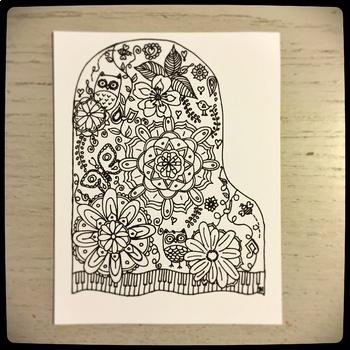 Piano Mandala Postcards with bonus 2017-2018 Calendar