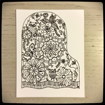 Piano Mandala Postcards with updated bonus 2018-2019 Calendar