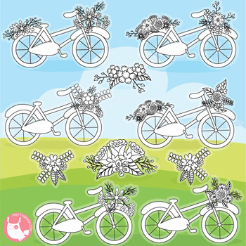 Sale summer bicycle stamps commercial use, vector graphics, images  - DS1140