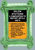 Salem Stations 8 Stops w/Multiple Prompts ELA History 9, 10, 11, 12 The Crucible
