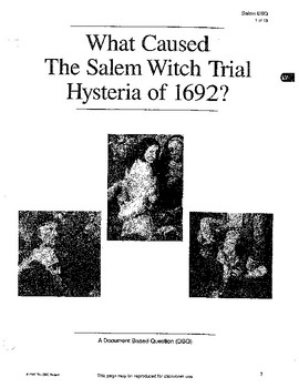 Salem Witch Trials: DBQ