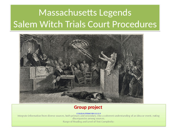 Salem Witch Trials- Group project