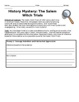 Salem Witch Trials History Mystery