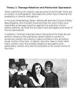 Salem Witch Trials History Mystery Theories
