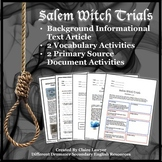Salem Witch Trials Informational Text Unit