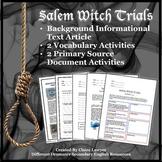 Salem Witch Trials Informational Text Unit