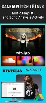 Salem Witch Trials Music Playlist and Song Analysis Activities
