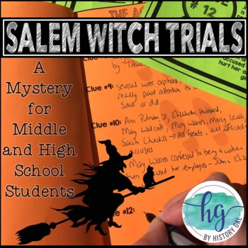 salem witch trials mystery activity by history gal tpt. Black Bedroom Furniture Sets. Home Design Ideas