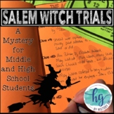 Salem Witch Trials Mystery Activity