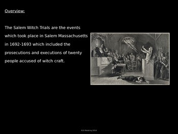 Salem Witch Trials - Power Point - complete history facts information pictures