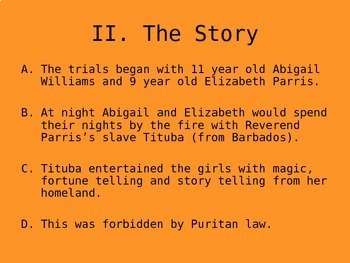 Salem Witch Trials PowerPoint Notes