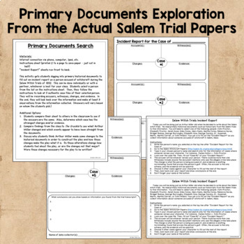 Salem Witch Trials Primary Documents Exploration