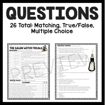 33 Salem Witch Trials Video Worksheet Answers ...