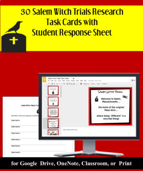 The Crucible Introduction: Salem Witch Trials Research with 30 Task Cards