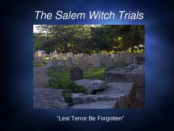 Salem Witch Trials (The Crucible) Power Point