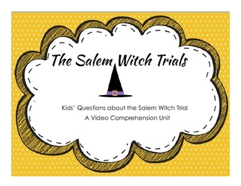 Salem Witch Trials Video Comprehension Package - Digital Version